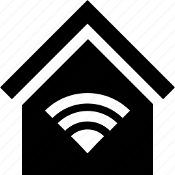 home, house, network, signal, wifi, wireless icon