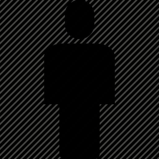 account, human, person, profile, single, user icon