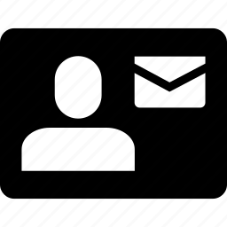 account, email, mail, message, sender, user icon
