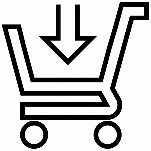 arrow, buy, cart, down, ecommerce, online, shopping icon