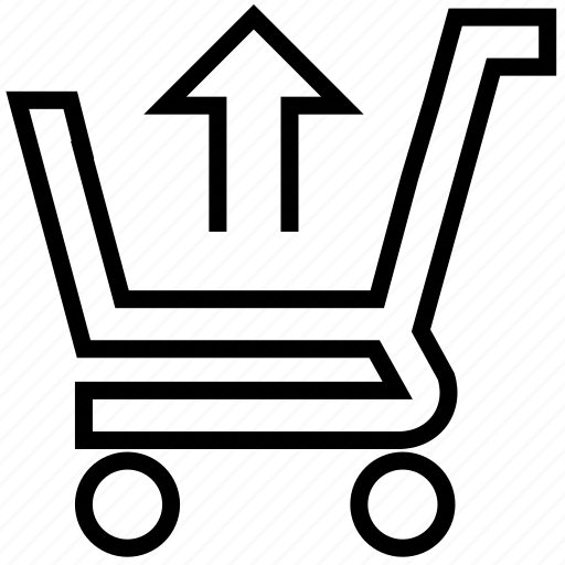 arrow, buy, cart, ecommerce, online, shopping, up icon