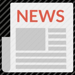 diary, journal, magazine, news, newspaper, notice, paper, squarico icon