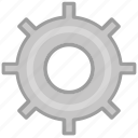 circle, gear, grey, option, setting, settings, squarico icon