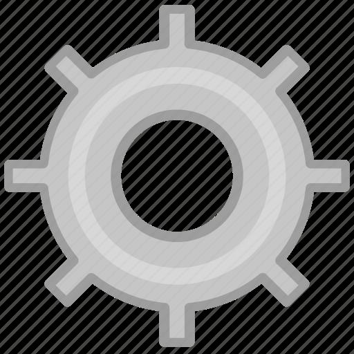 circle, gear, grey, option, setting, settings, squarico icon