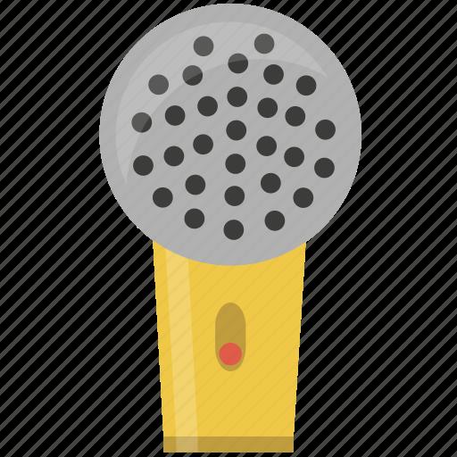 cornet, microphone, receiver, squarico icon