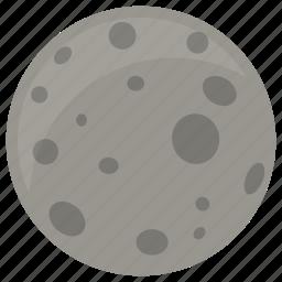 moon, space, squarico icon