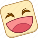 emoji, emotion, expression, face, laugh icon