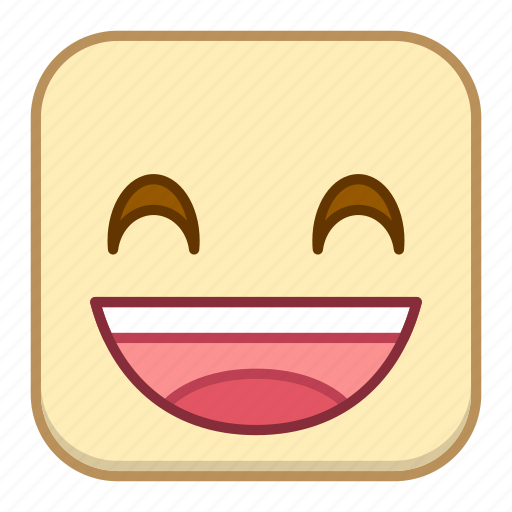 emoji, emotion, expression, face, grin icon