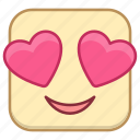 emoji, emotion, expression, face, love icon