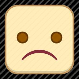 emoji, emotion, expression, face, sad icon