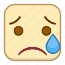 cry, emoji, emotion, expression, face icon
