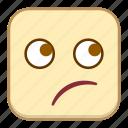 emoji, emotion, expression, face, thinking