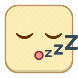 emoji, emotion, expression, face, sleep icon