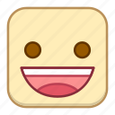 emoji, emotion, expression, face, grin icon