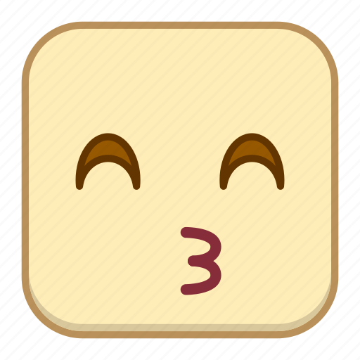 emoji, emotion, expression, face, kiss icon