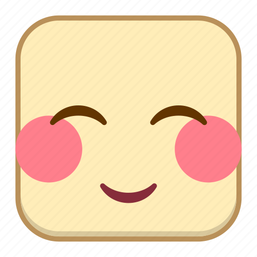 emoji, emotion, expression, face, shy icon