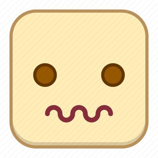 emoji, emotion, expression, face, scared icon