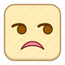 emoji, emotion, expression, face, glare icon
