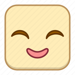 emoji, emotion, expression, face, giggle icon