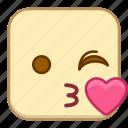 emoji, emotion, expression, face, love