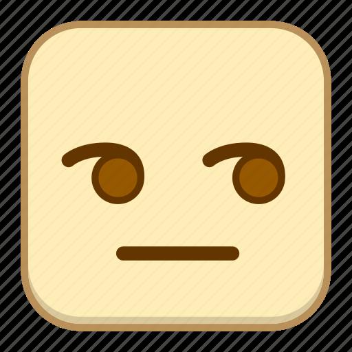emoji, emotion, expression, face, glare icon