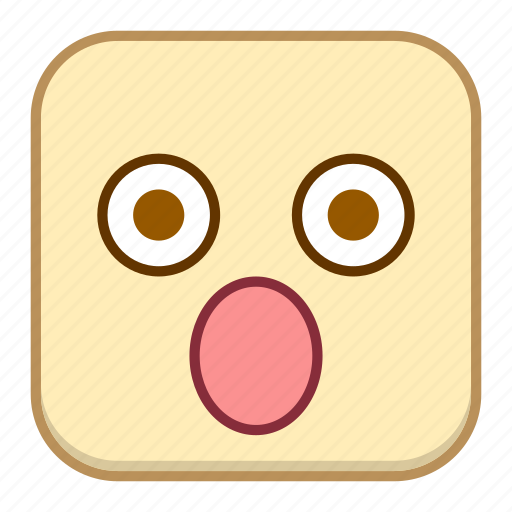 emoji, emotion, expression, face, surprised icon