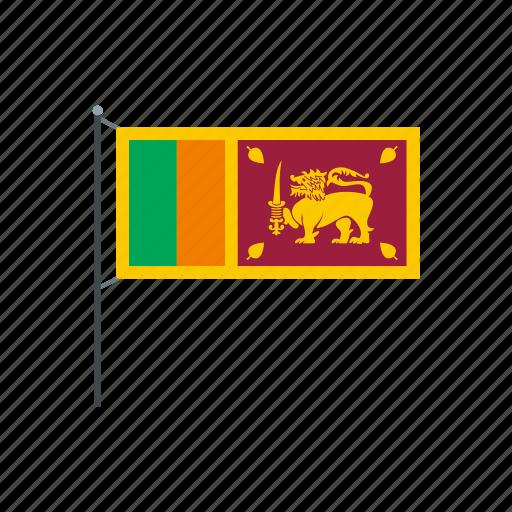 country, flag, lanka, nation, national, patriotic, sri icon