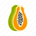 dessert, food, fresh, fruit, juicy, papaya, ripe icon