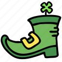 boot, buckle, clover, irish, leprechaun, shamrock, shoe icon