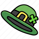 bowler, clover, hat, irish, leprechaun, luck, shamrock icon