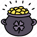 cash, clover, gold, leprechaun, luck, money, pot icon
