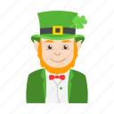 celebration, clover, feast, happy leprechaun, leprechaun, st.patrick icon