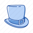 celtic hat, green hat, hat, headwear, leprechaun hat, lucky hat icon