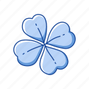 celebration, clover, feast, flower, leaf, st.patrick day, three leaf clover icon