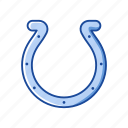 hooves, horse, horse feet, horseshoe, lucky horseshoe, metal horseshoe, shoe icon