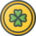 clover, gold, patrick, st, coin, day