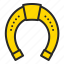 cowboy, gold luck, horseshoe, st.patrick's day icon