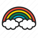cloouds, rainbow, sky icon