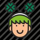 clover, cosplay, costume, headband, ireland, st.patrick's day icon