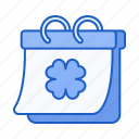 calendar, irish, st, patrick, day