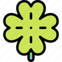 clover, leaf, shamrock, st. patrick's day icon