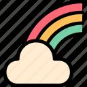 clod, imagination, rainbow, st. patrick's day icon