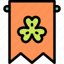 banner, clover, shamrock, st. patrick's day icon