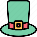 green, hat, high, st. patrick's day icon