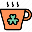 coffee, cup, hot, st. patrick's day icon