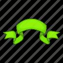 cartoon, green, object, ribbon