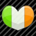 flag, heart, ireland, love