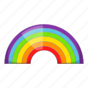 cloud, rain, rainbow, weather icon