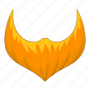 beard, man, orange, user