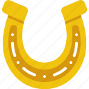 gold, horse, horseshoe, patrick, shoe, st patricks day, stpatricksday icon